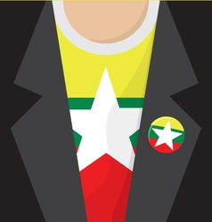 T-shirt with myanmar flag vector