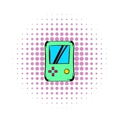 Tetris icon comics style vector