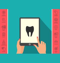 Tooth icon symbol vector