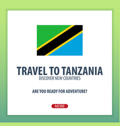 Travel to tanzania discover and explore new vector