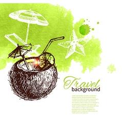 Travel tropical design vector image