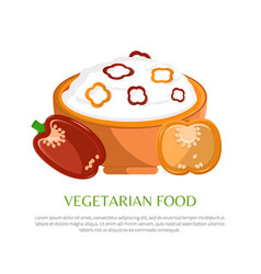 vegetarian food color banner vector image