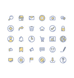 web interface filled outline icon set vector image