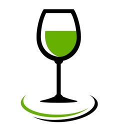 white wine glass icon vector image