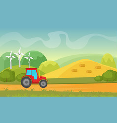 agriculture and farming agribusiness summer vector image