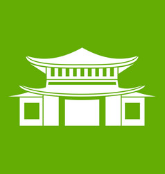 chinese icon green vector image vector image