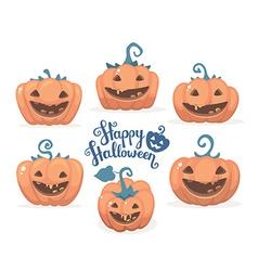 halloween of collection decorative orange pu vector image