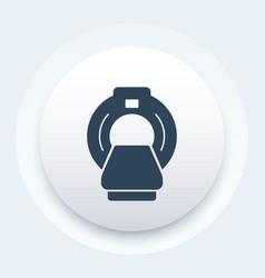 mri scanner icon vector image vector image