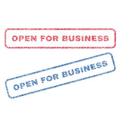 open for business textile stamps vector image