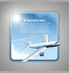 Airfare banner vector