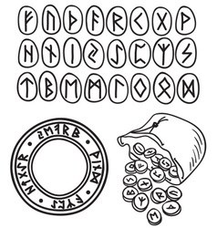 Ancient runes drawing vector image