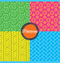 flower paving stone and floral textures vector image vector image