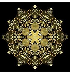 gold vintage snowflake vector image vector image