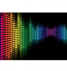 graphic equalizer vector image vector image