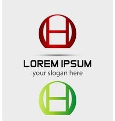 Letter H logo Creative concept icon vector image