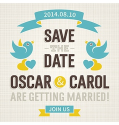Wedding invitation in old style vector image vector image