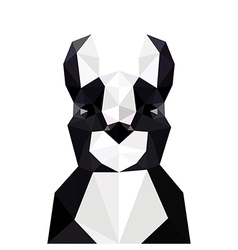 with origami french bulldog vector image vector image