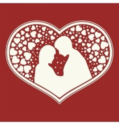 design of a set hearts shape lovers vector image
