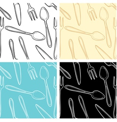 dishes pattern vector image vector image