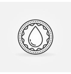 Donate blood linear badge vector image