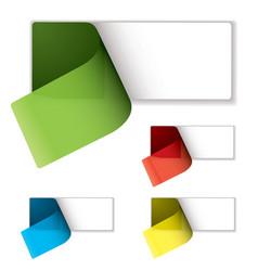 label peel variation vector image vector image