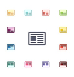 news flat icons set vector image