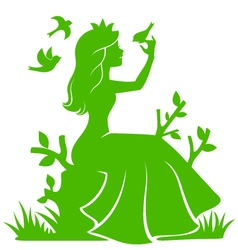 princess in the forest vector image vector image