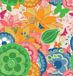 Colorful Modern Seamless Pattern with Butterflies vector image