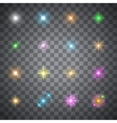 glowing flare vector image vector image