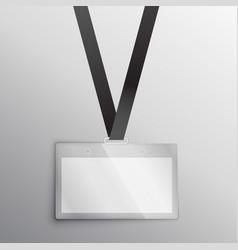 lanyard with badge access card design mockup vector image