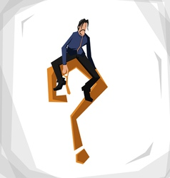 worker problem vector image