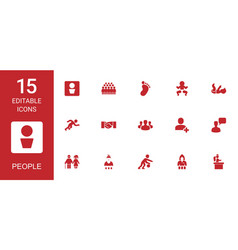 15 people icons vector
