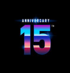 15 years anniversary celebration logotype vector image