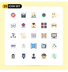 25 universal flat color signs symbols hand vector