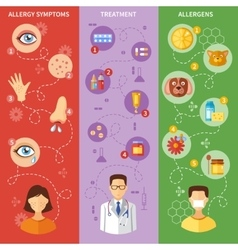 Allergy Symptoms Vertical Banners vector