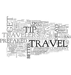Become a travel pro in one easy lesson text word vector
