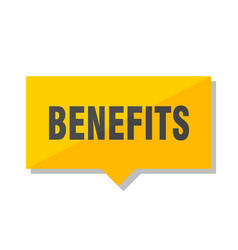 Benefits price tag vector