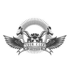 Biker club retro emblem vector