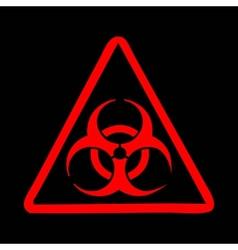 Biohazard symbol sign vector