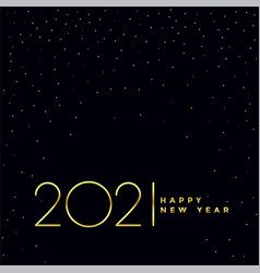 Black and golden 2021 happy new year background vector