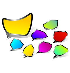 Black edged speech bubbles vector image
