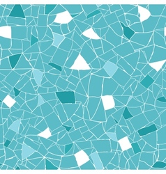 Blue and white mosaic texture seamless pattern vector image