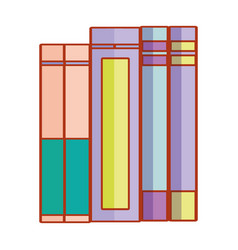 books stacked cartoon vector image