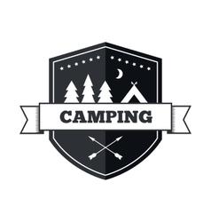 Camping logo design vector