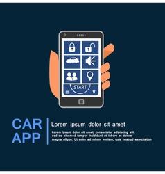 Car security system phone app vector