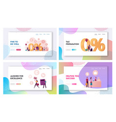 Characters purchasing in tax and duty free store vector