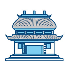 Chinese temple symbol vector