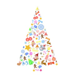 Christmas tree vector image