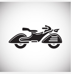 Classic motorcycle icon on white background for vector