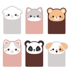 collection of cute cards collection of cute cards vector image